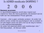is adhd medicatie doping25