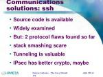 communications solutions ssh