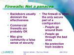 firewalls not a panacea
