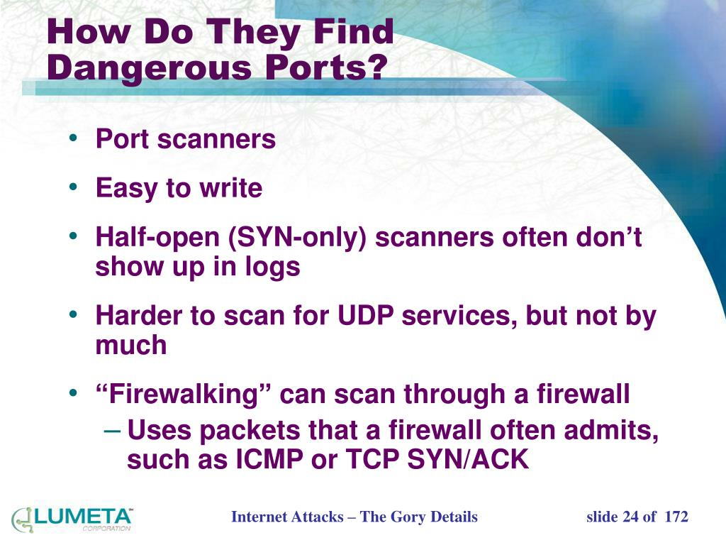 How Do They Find Dangerous Ports?