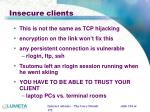 insecure clients