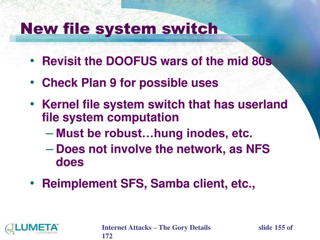 New file system switch