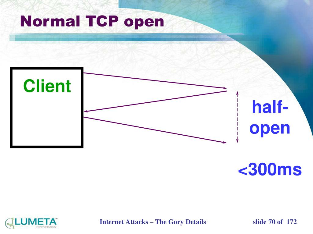 Normal TCP open