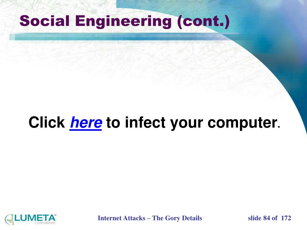 Social Engineering (cont.)