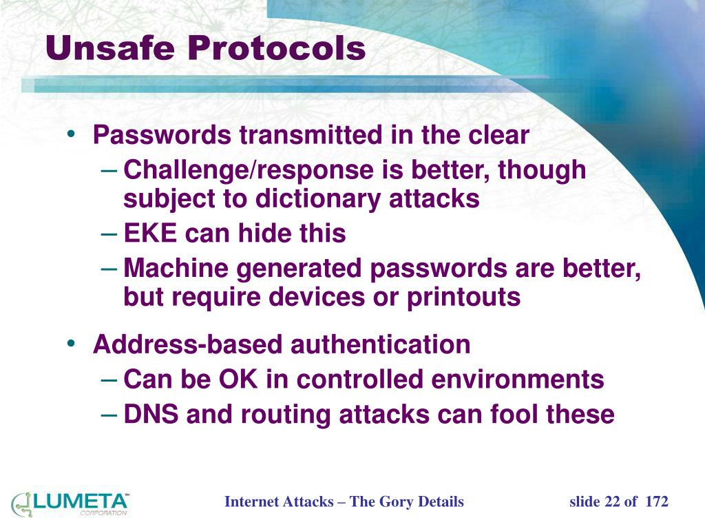 Unsafe Protocols