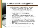 blanket purchase order approvals