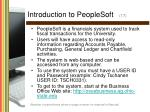 introduction to peoplesoft 17