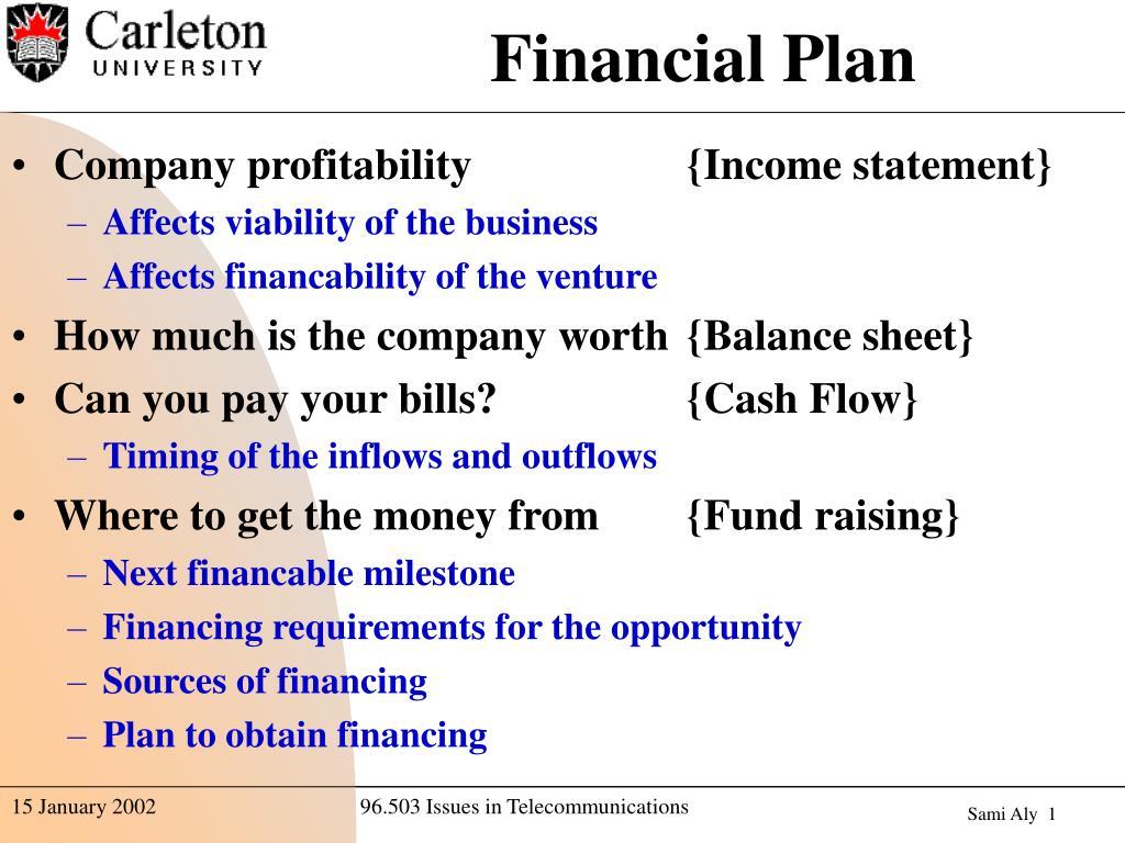 financial plan l.