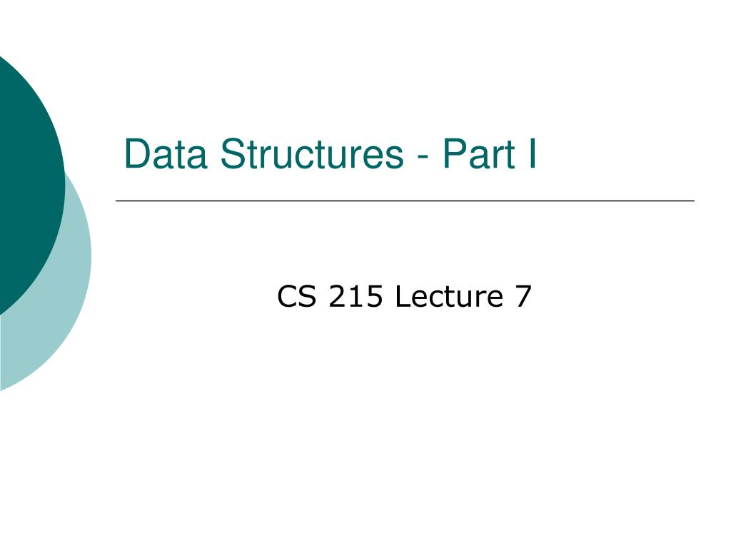 data structures part i l.