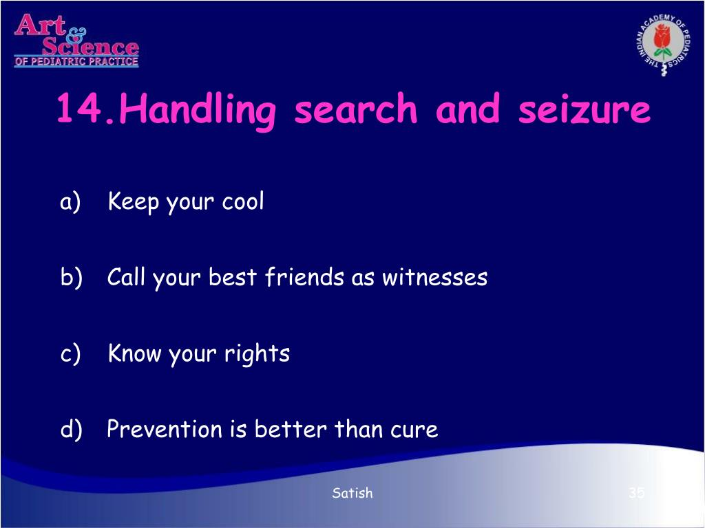 14.Handling search and seizure