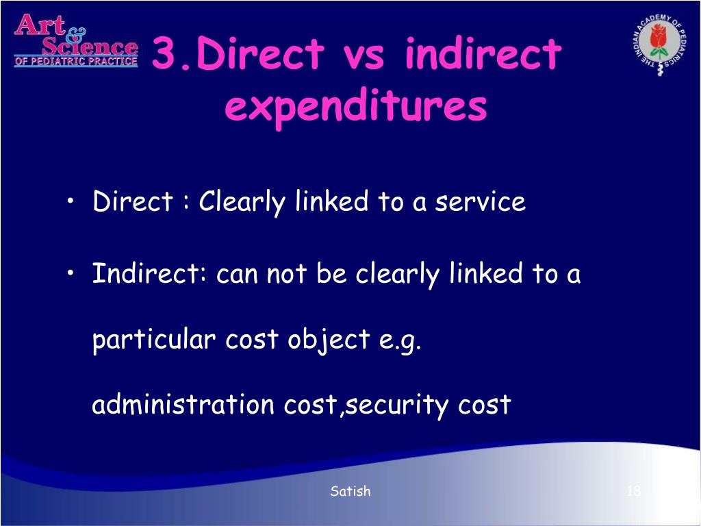 3.Direct vs indirect expenditures