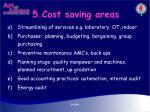 5 cost saving areas