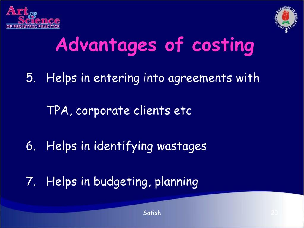 Advantages of costing