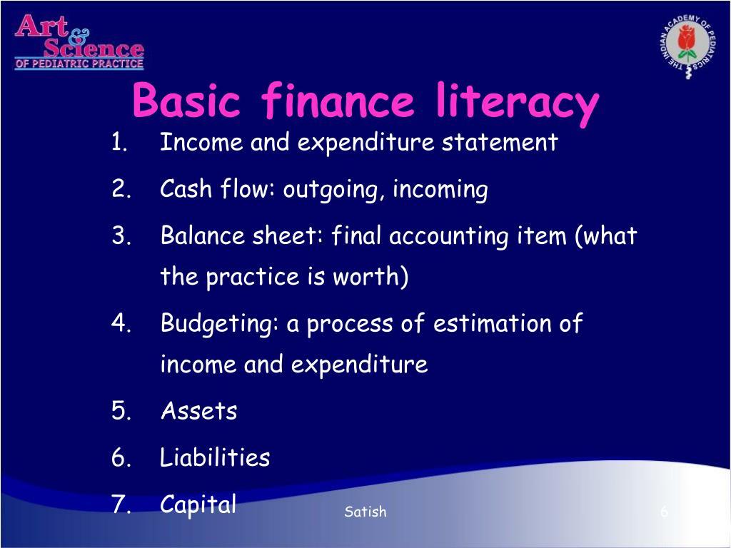 Basic finance literacy