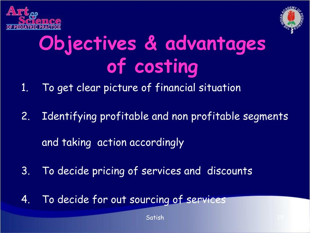 Objectives & advantages  of costing