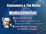 consumers the media