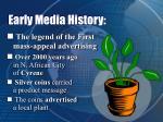 early media history