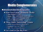 media conglomerates27