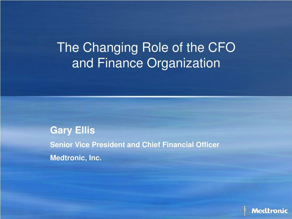 the changing role of the cfo and finance organization l.