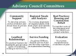 advisory council committees