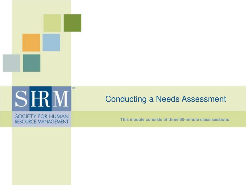 conducting a needs assessment l.