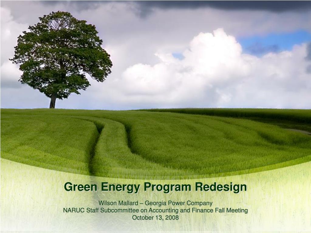 green energy program redesign l.