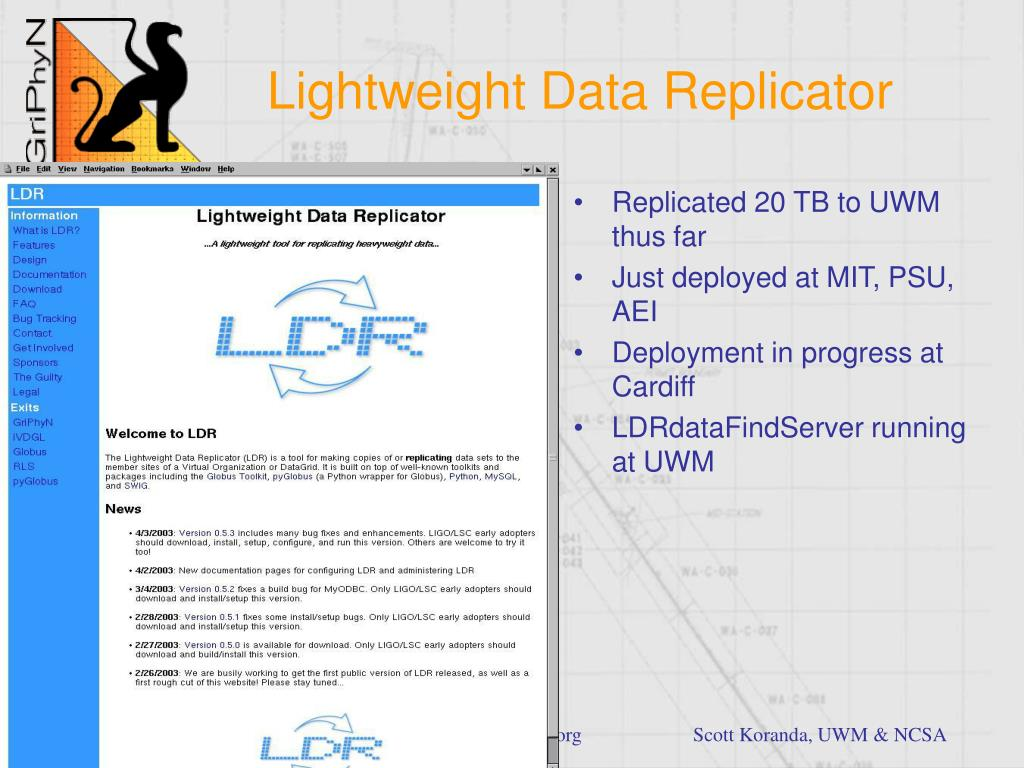 Lightweight Data Replicator