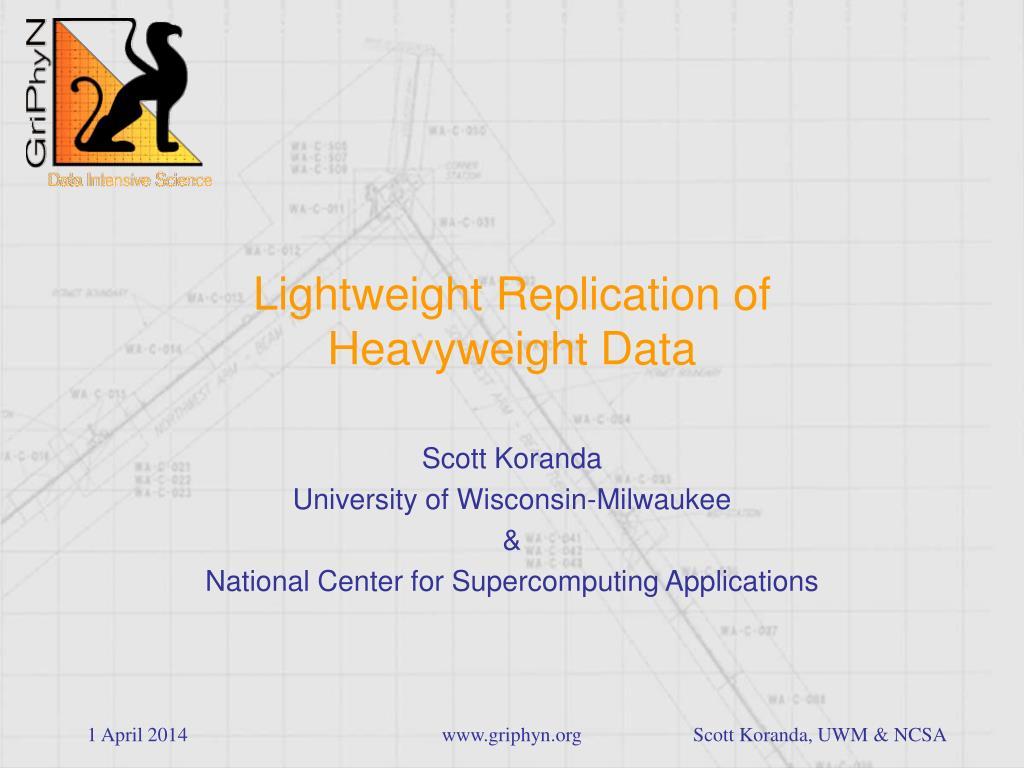 lightweight replication of heavyweight data l.