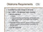 oklahoma requirements