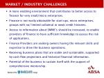 market industry challenges