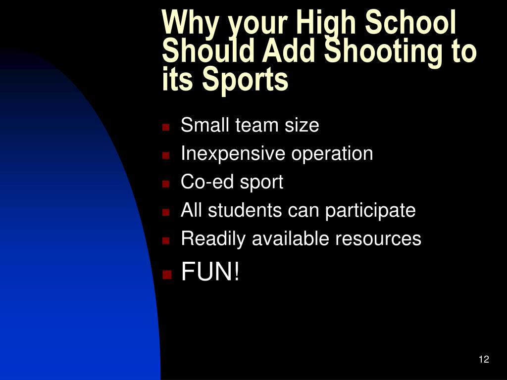 Why your High School Should Add Shooting to its Sports