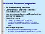 business finance companies