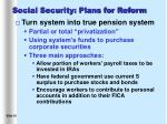 social security plans for reform18