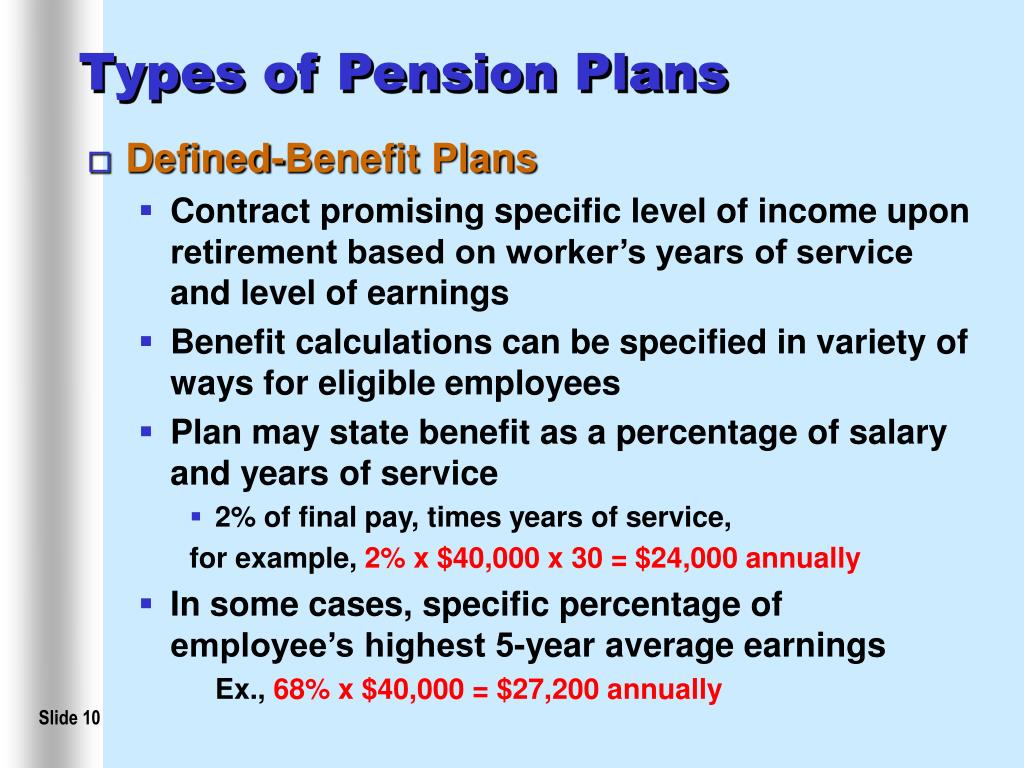 Types of Pension Plans