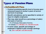 types of pension plans10