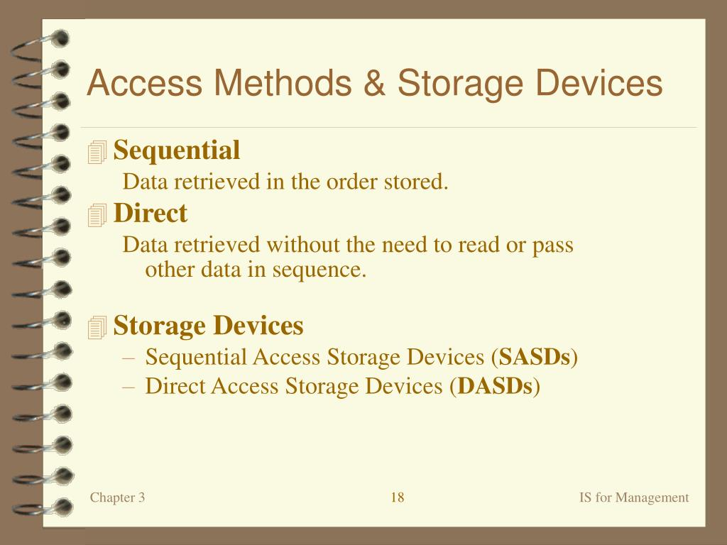 Access Methods & Storage Devices