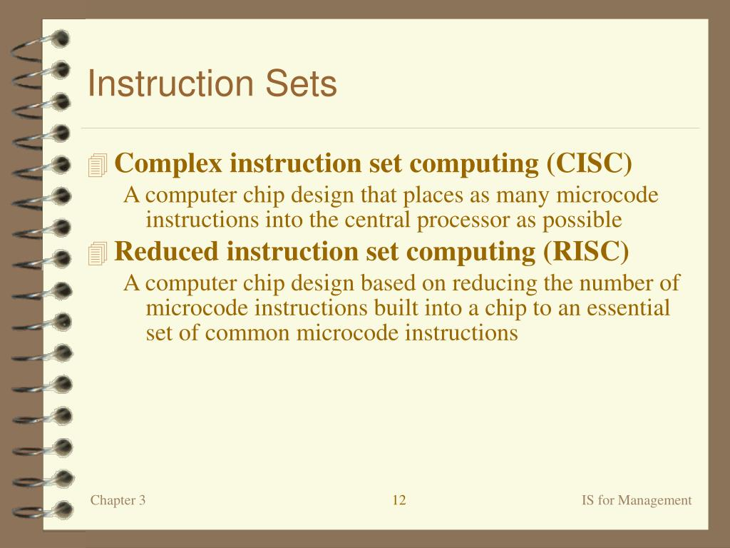 Instruction Sets