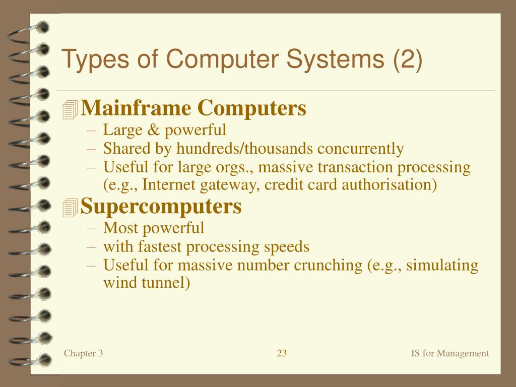 Types of Computer Systems (2)