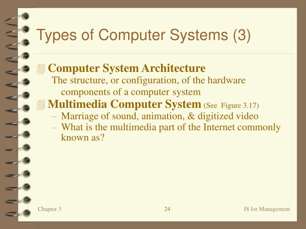 Types of Computer Systems (