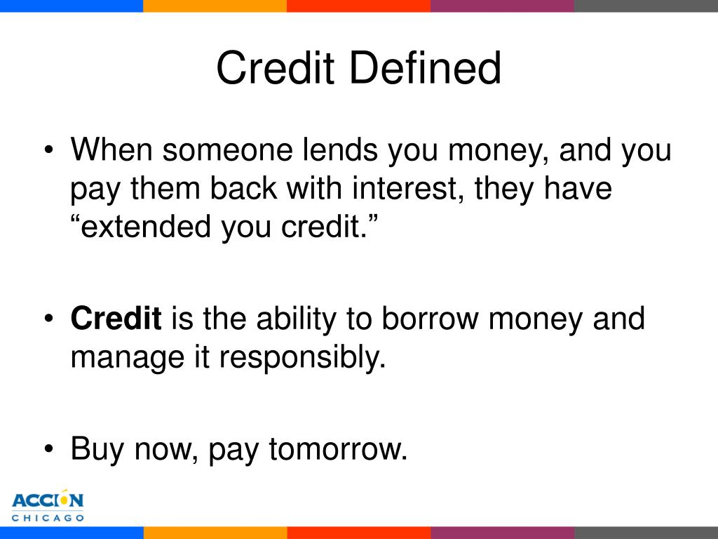 Credit Defined