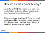 how do i start a credit history