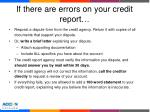 if there are errors on your credit report