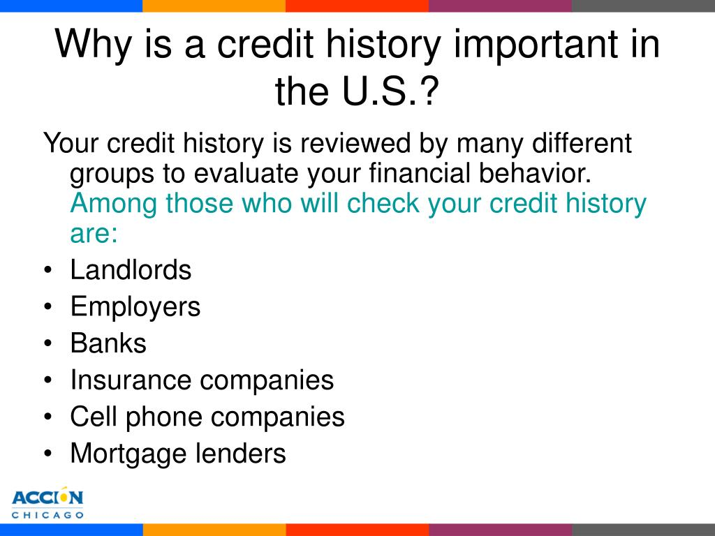 Why is a credit history important in the U.S.?