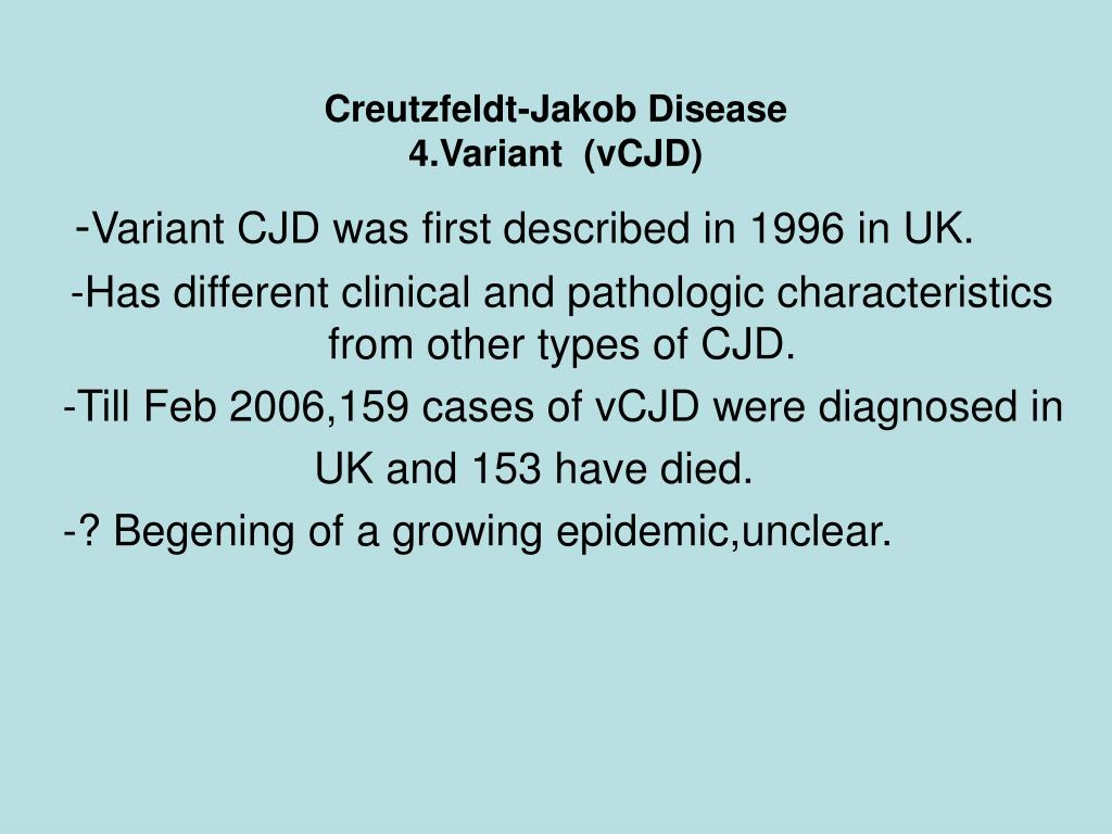 the creutzfeldt jakob disease essay