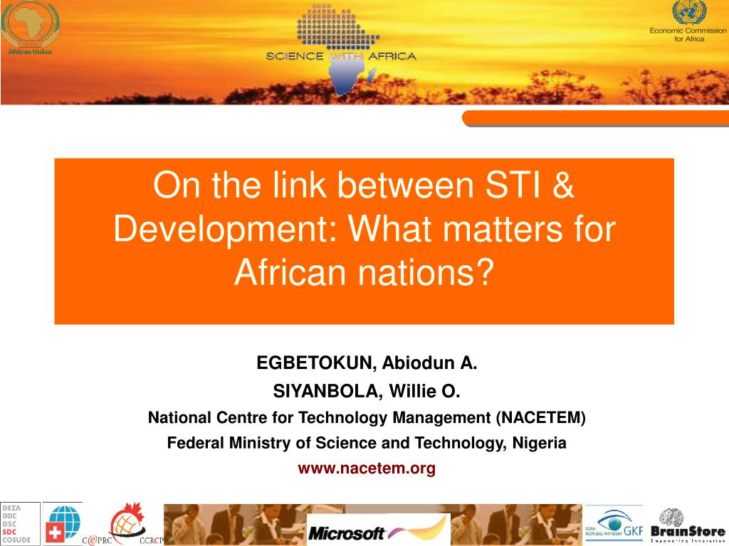 on the link between sti development what matters for african nations l.