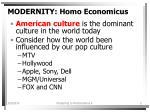 modernity homo economicus