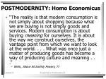 postmodernity homo economicus