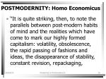 postmodernity homo economicus16