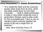 postmodernity homo economicus19