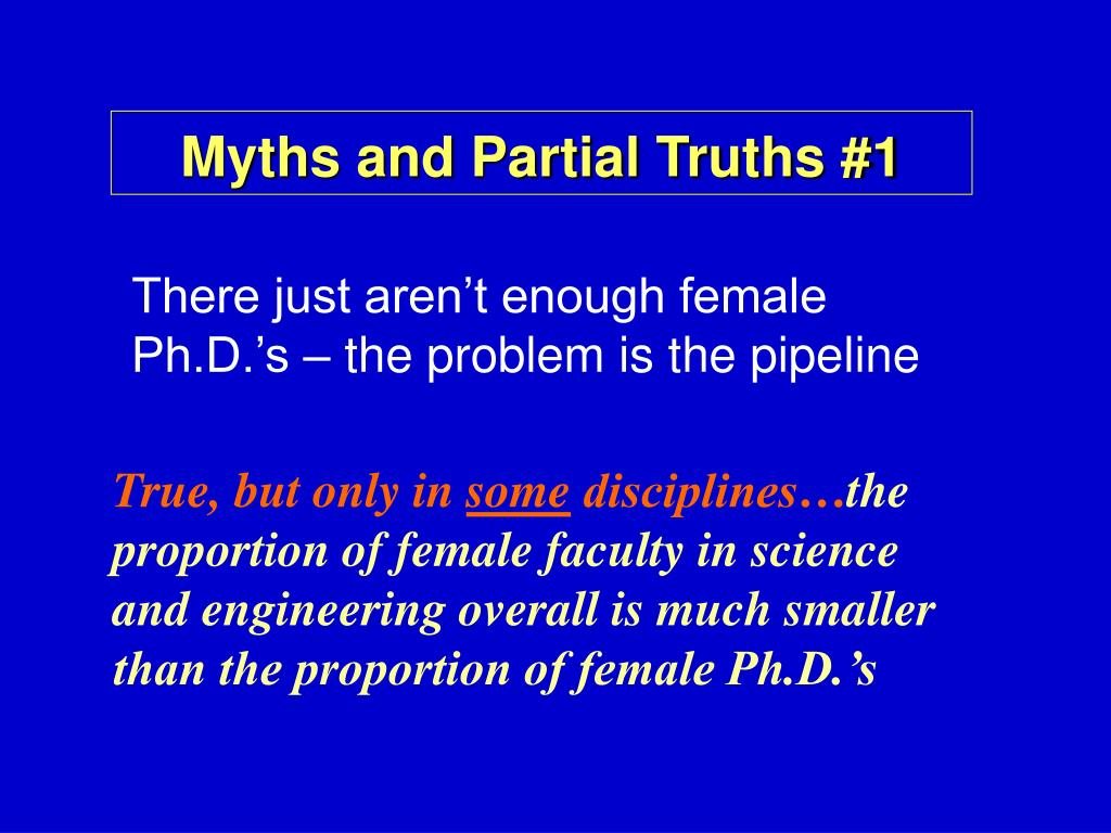 Myths and Partial Truths #1